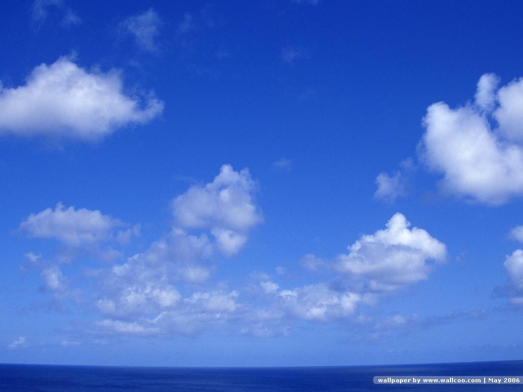 桌布天堂 晴朗天空 藍天白云8